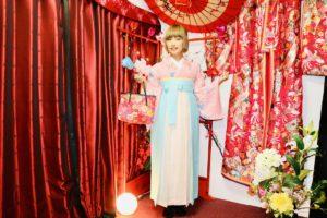 桜の季節、袴でお写真