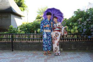 韓国のお友達と一緒に着物デート。跟韓國朋友同來體驗浴衣