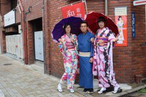 台灣客人來東京體驗和服!非常適合漂亮喔!