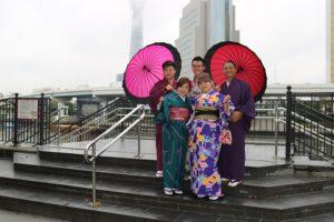 客人從台灣來,男裝體驗,來淺草就是要穿和服~