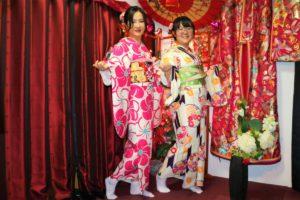 香港的兩位女士一起體驗和服,是感情很好的朋友呢!