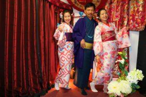 來自香港的三位友人一同穿上了和服哦!