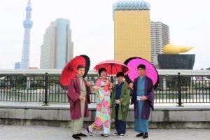 香港來的朋友一起來體驗和服