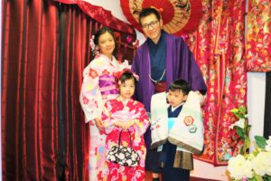 來自香港的家族,全家一起體驗了和服~