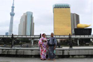 インドからご夫婦で浴衣体験