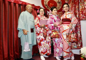 Family from Indonesia had sweet memory of wearing Kimono together.