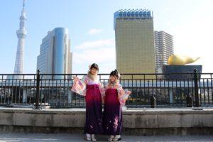 可愛い双子コーデ での #袴プラン をご利用のお客様です。